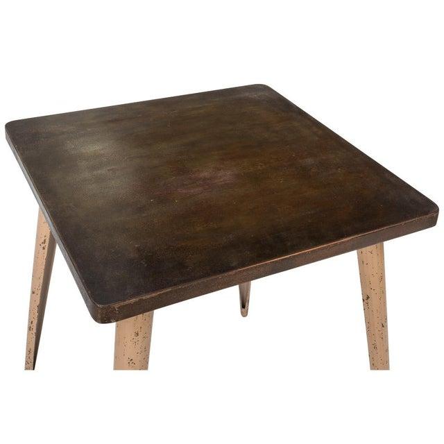 Industrial Sarreid Ltd Tolix Cafe Table For Sale - Image 3 of 4