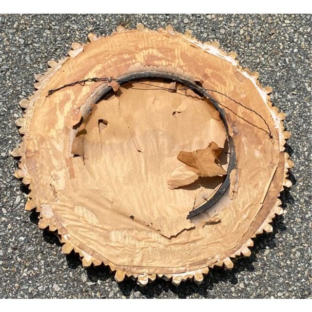 Mid 20th Century Mid-Century Gilded Wood & Gesso Sunburst Convex Mirror For Sale - Image 5 of 7