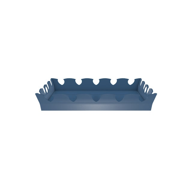Oomph Ocean Drive Outdoor Tray, Blue For Sale In New York - Image 6 of 7