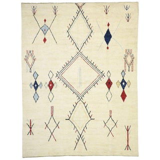 Contemporary Moroccan Style Area Rug - 10′6″ × 13′8″ For Sale