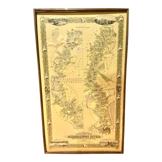 Vintage Mississippi River Map by Pelican Publishing Co. For Sale