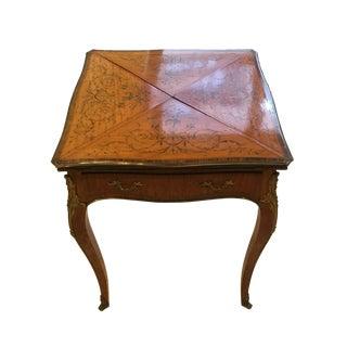 19th Century French Paul Sormani Mahogany Game Table