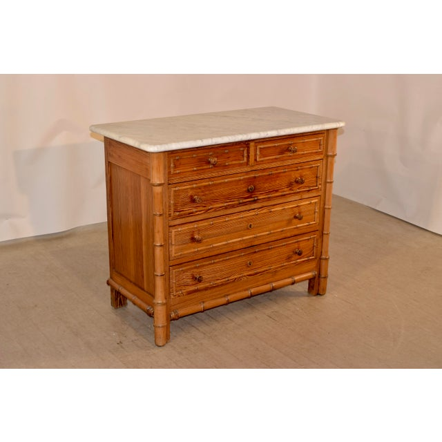 19th C French Faux Bamboo Chest For Sale - Image 4 of 7