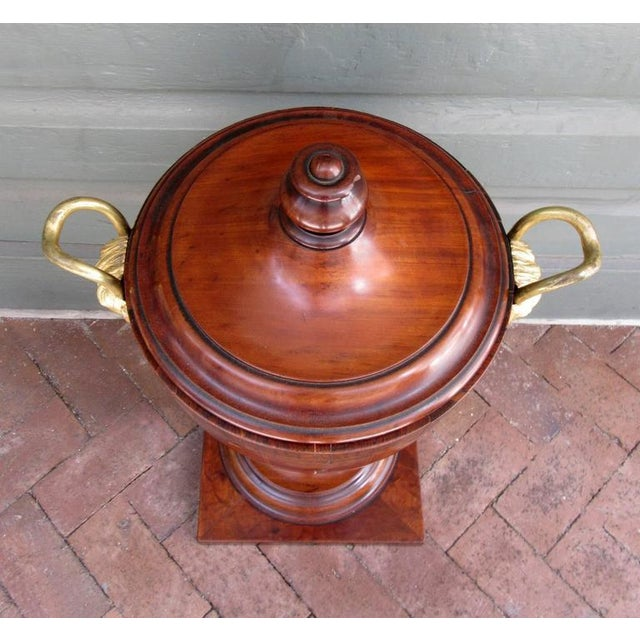 Late 18th Century English George III Mahogany and Bronze Doré Urn or Wine Cooler For Sale In Charleston - Image 6 of 9