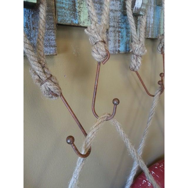 Vintage Life Rings and Weathered Wood Display Rack - Image 4 of 6
