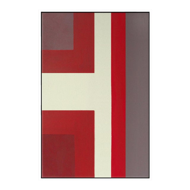 """Abstract Ron Burgundy No. 1"" Framed Fine Art Giclée Print For Sale"