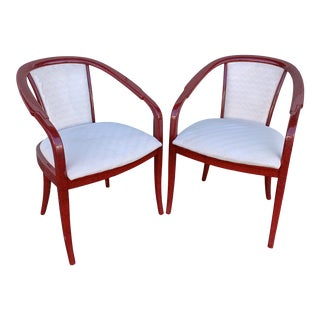 Postmodern Laquered Chairs by Paco Capdell For Sale