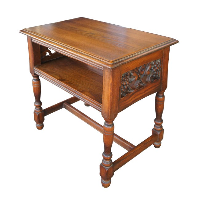 Feudal Oak Jamestown Lounge Co Spanish Revival Nightstand For Sale - Image 10 of 10