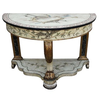 19th Century English Painted & Parcel Gilt Console For Sale