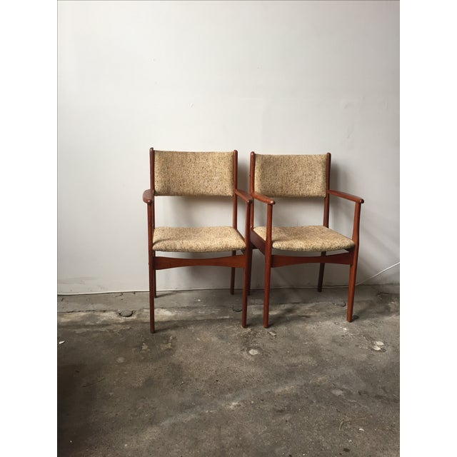 Danish Modern Teak Armchairs - A Pair - Image 9 of 10