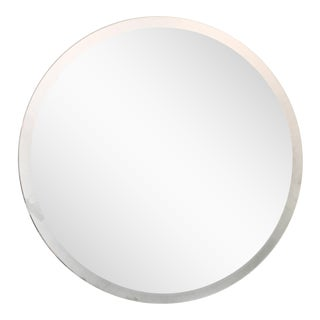Round Mirror With Frosted Edge For Sale