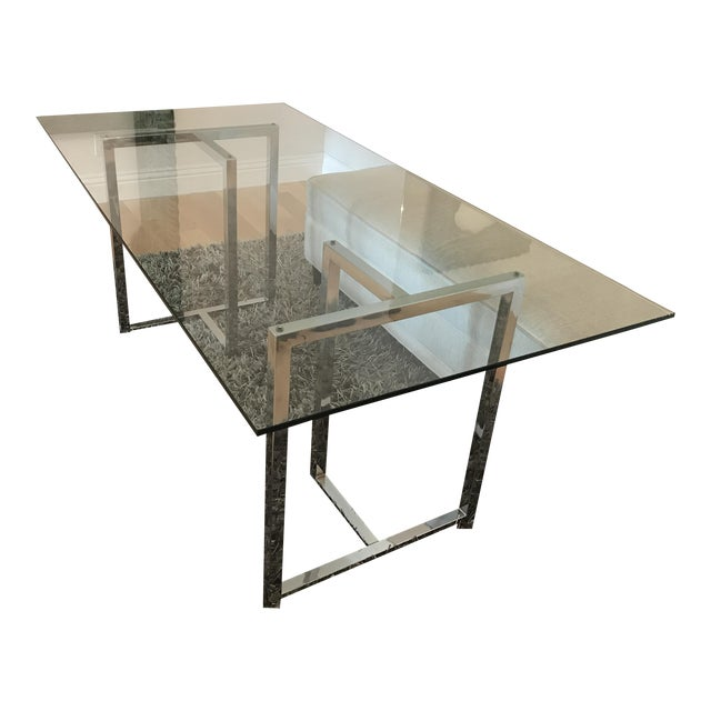 Silverado Chrome Dining Table For Sale