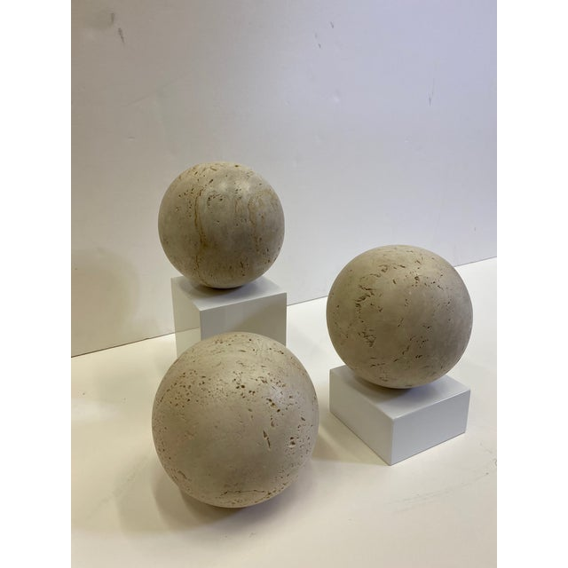 Round Italian Marble Balls - Set of 3 For Sale - Image 10 of 10