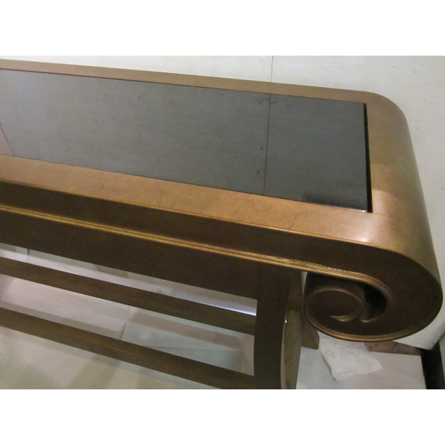 Aged Bronze Finish Console by Century Furniture - Image 6 of 8