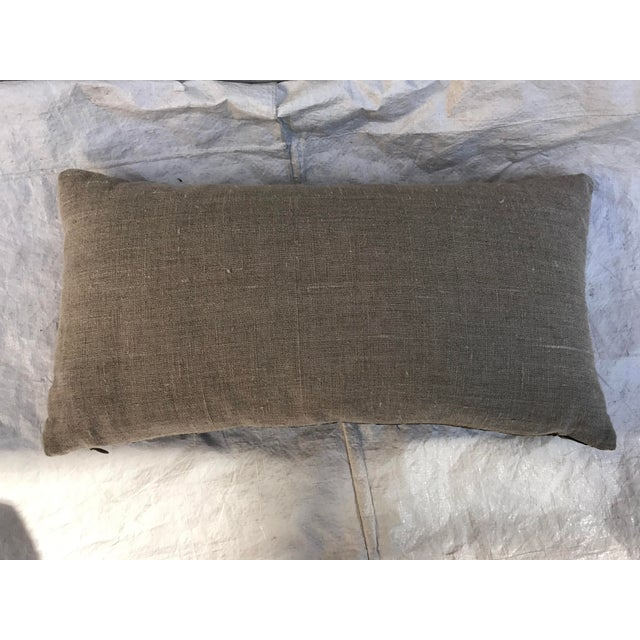 Chinoiserie Gold Silk Crane Boudoir Pillow - Image 8 of 9