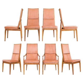 1960s Tall Dining Chairs by Kroehler, S/8 For Sale