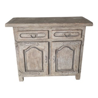 19th Century French Distressed Gray Wooden Sideboard