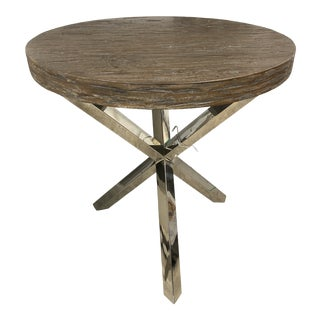 Pelham Round Chairside Wood Top Table For Sale