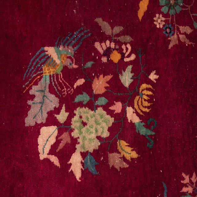 Magenta Chinese Deco Carpet For Sale - Image 4 of 11