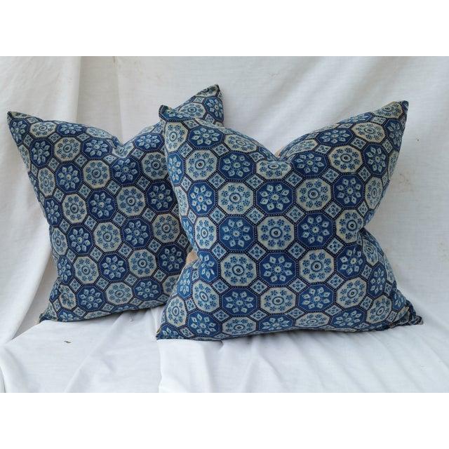 Indigo English Tile Pillows - Image 2 of 5