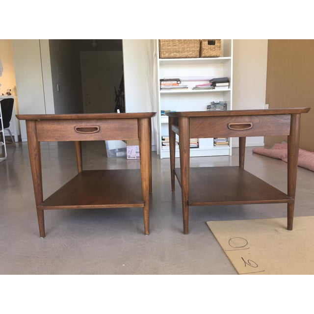Danish Modern Mid-Century Modern Side Tables - a Pair For Sale - Image 3 of 5