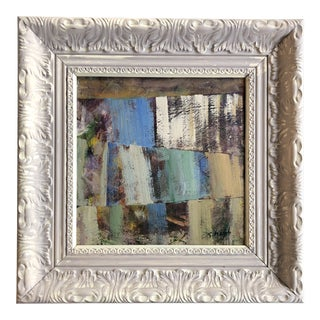 """Original Contemporary Stephen Heigh Abstract Painting """"Through the Trees"""" Ornate Frame For Sale"""
