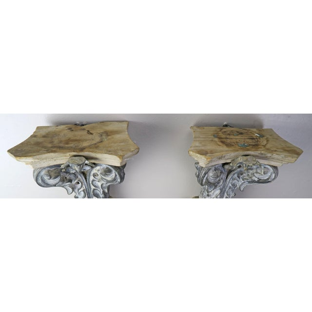 Pair of French Painted Corbels, Circa 1940s For Sale - Image 10 of 13