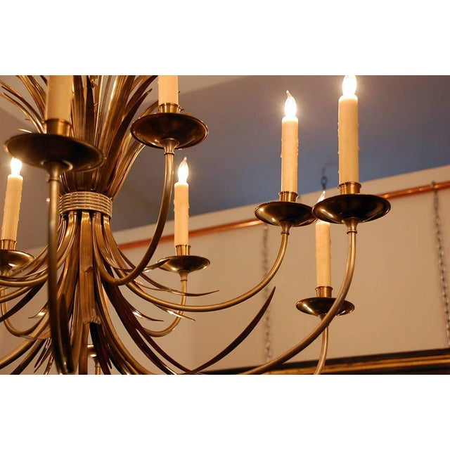 Brass 1960s Maison Charles Large French Chandelier For Sale - Image 7 of 9