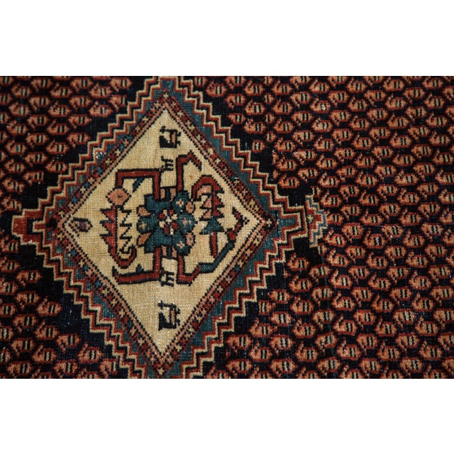"Blue Vintage Mission Malayer Square Rug - 5'5"" x 6'7"" For Sale - Image 8 of 10"