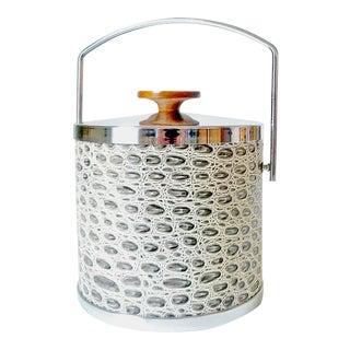 Vintage Faux Python Mod Ice Bucket