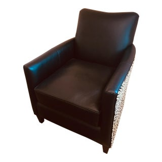Animal Print Leather Chair For Sale