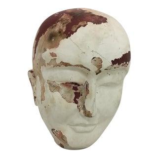 Vintage Asian Wood Mannequin Head