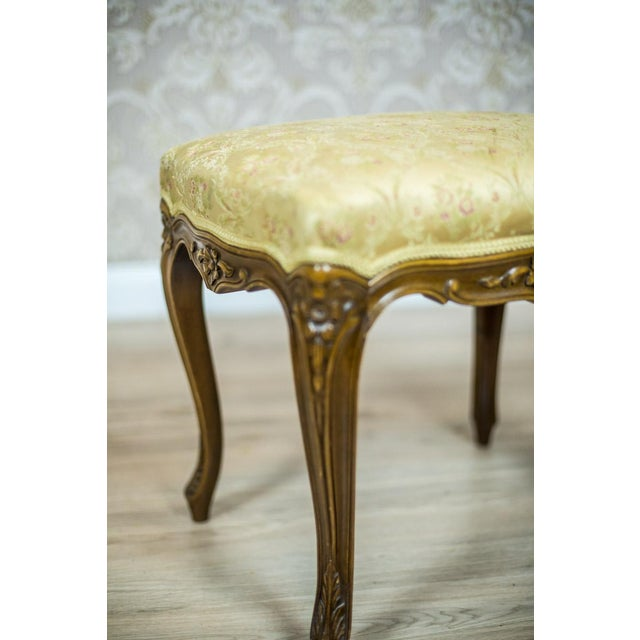 Wooden, Upholstered Stool in the Rococo Type, circa 1950s-1960s For Sale - Image 6 of 8