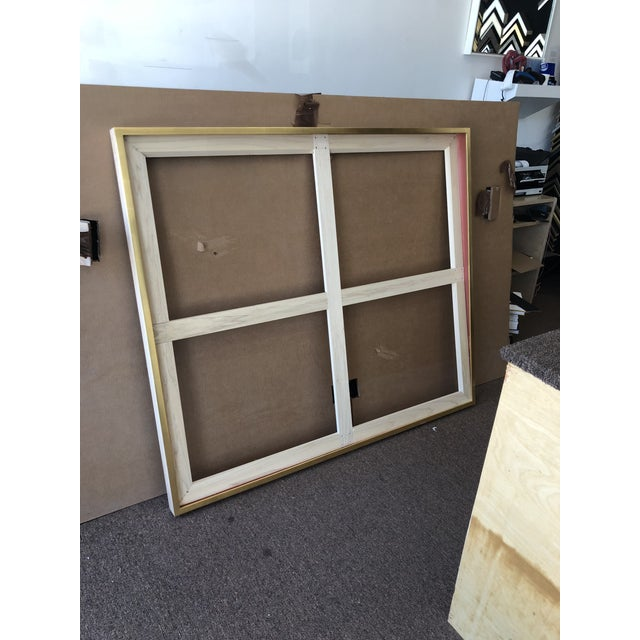 """Brand new 22kt hand gilded gold frame. 100% clear coated maple wood. 56 7/8"""" W x 49 1/4"""" H. Installed with French Cleat..."""