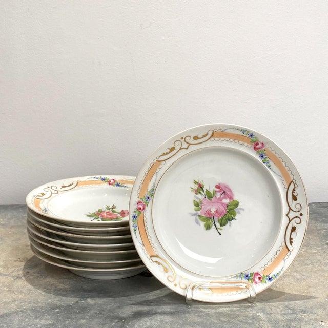 Mid 19th Century Set of 8 Paris Porcelain Soup Bowls, France 19th Century For Sale - Image 5 of 5