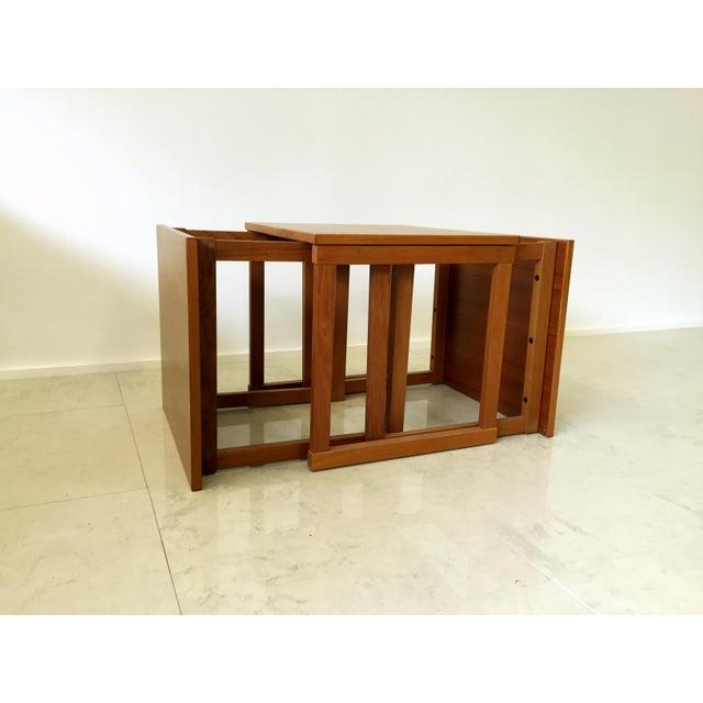 Kai Kristiansen Teak Nesting Tables - Set of 3 For Sale - Image 9 of 9