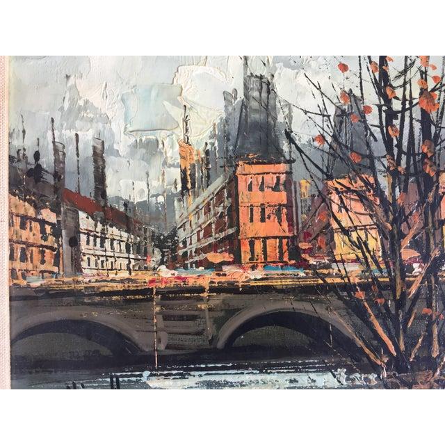 Vintage Mid Century Paris Street Scene Painting - Image 4 of 5