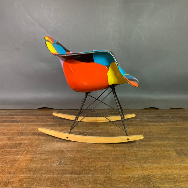 1950s Jim Oliveira for Eames Rope Edge Rocking Chair For Sale In New York - Image 6 of 13