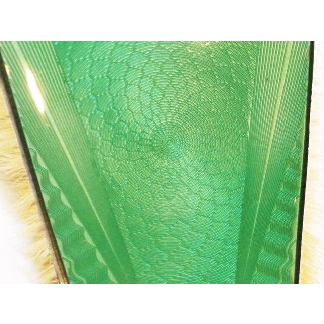 Art Deco Green Enamel Vanity Brushes - Set of 4 - Image 3 of 5