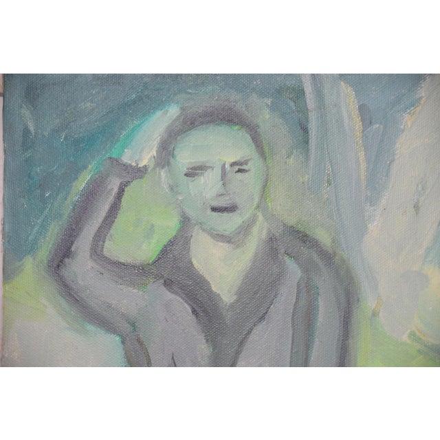 "Arthur J. Krakower (1921-2009) ""Uncle Jack, Central Park"" Original Oil on Canvas c.2000 Uncle Jack in Central Park by..."