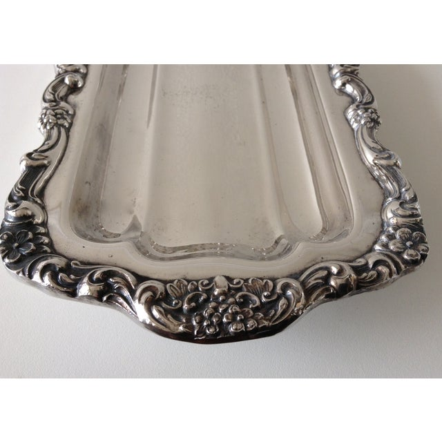 Metal Georgian Style Towle Serving Tray For Sale - Image 7 of 9