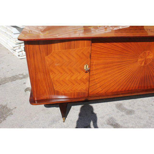 French Art Deco Exotic Rosewood Sunburst Sideboard / Buffet Circa 1940s - Image 8 of 10