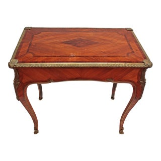 English Louis XV Style Table by Town & Emanuel, London (with surviving paper label)