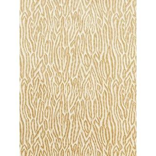 Sample, Scalamandre Faux Bois Velvet, Sand Fabric For Sale