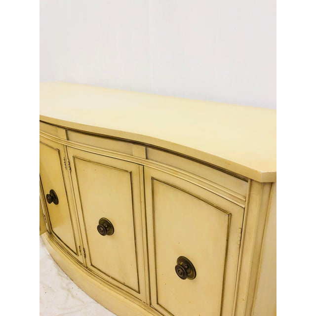 Yellow Vintage Regency Style Credenza For Sale - Image 8 of 10