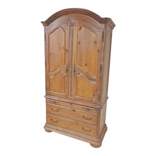French Style Paneled Wardrobe For Sale