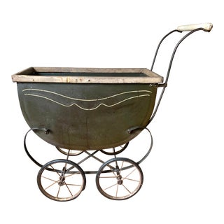 1940s Mid Century Baby Doll Stroller Carriage For Sale