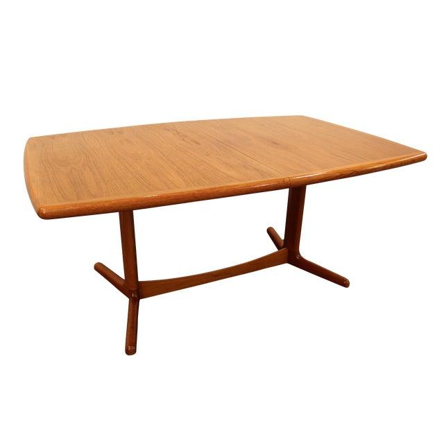 Laurits M. Larsen Mid-Century Danish Modern Extendable Teak Dining Table - Image 1 of 10