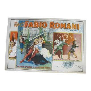 1914 Fabio Romani Marie Corelli Vendetta National Movie Poster For Sale