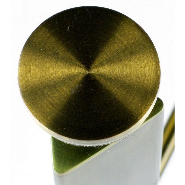 Postmodern Brass And Glass End Table - Image 4 of 6